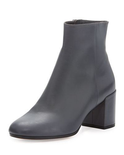 Blakely Leather Ankle Boot, Pewter