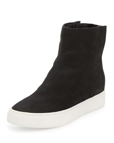 Hardy Shearling High-Top Sneaker, Black