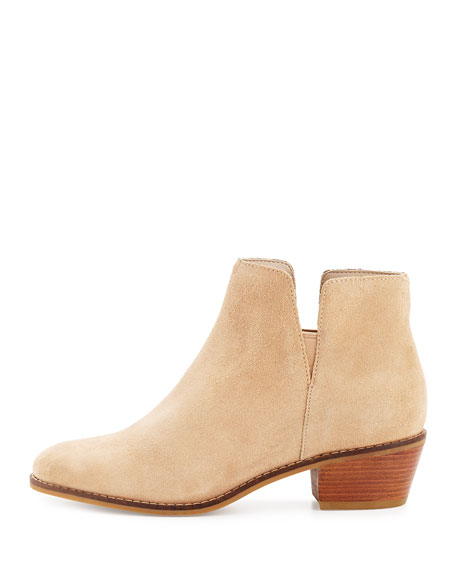 Abbot Grand.OS Suede Cutout Bootie, Cremini
