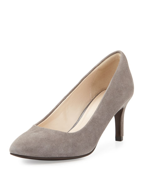 Cole Haan Carla Grand.OS Suede Pointed-Toe Pump, Storm