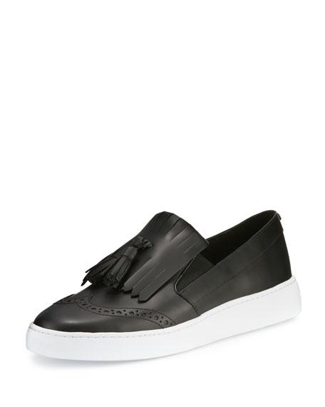 Reiley Kiltie Tassel Slip-On Sneaker, Black
