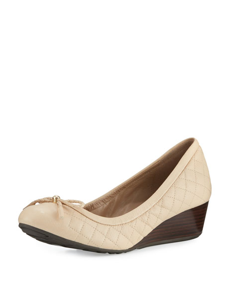 Cole Haan Tali Grand Quilted Wedge Pump, Nude
