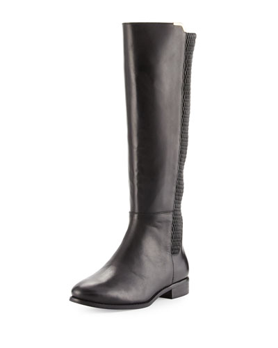 Rockland Leather Knee Boot, Black