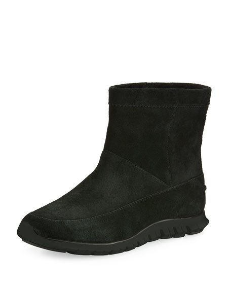Cole Haan ZeroGrand™ Suede Ankle Boot, Black
