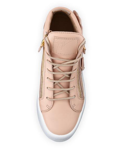 Maylondon Wings Side-Zip Sneaker, Nude