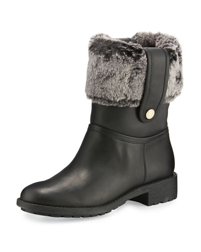 Breene Faux-Fur Boot, Black