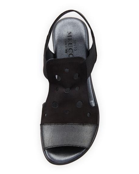 Eddy Perforated Comfort Sandals, Black