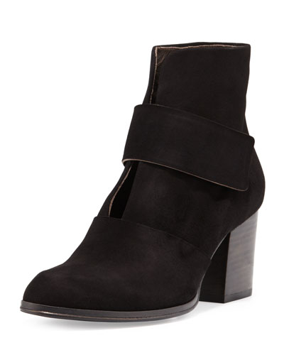 Oju Suede Ankle Boot, Black