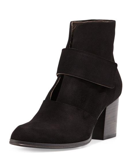 Oju Suede Ankle Boot, Black