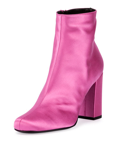 Babies Satin 90mm Ankle Boot, Rose Tropical