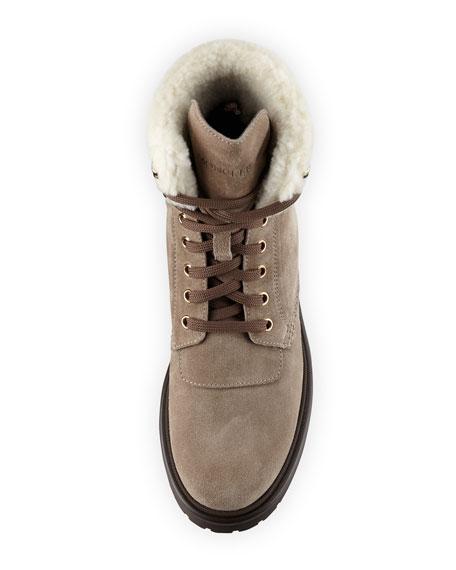 Patty Shearling Hiker Boot, Gray