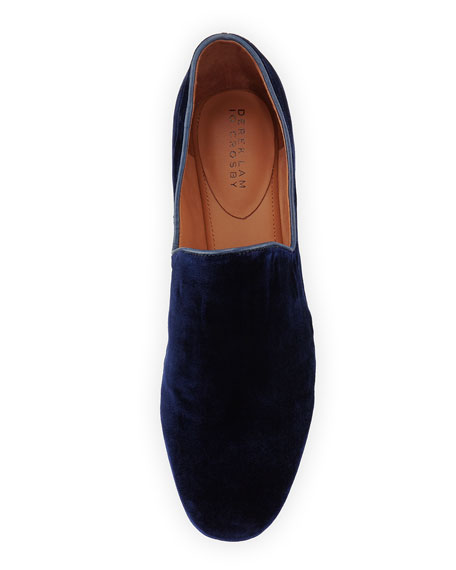 Piper Velvet Smoking Loafer, Midnight