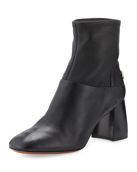 TORY BURCH Leathers SIDNEY LEATHER 70MM BOOTIE, BLACK