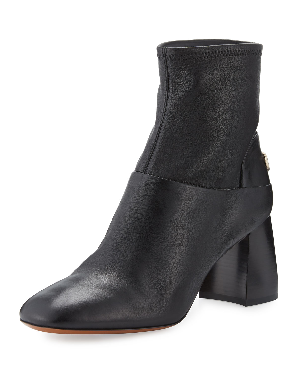 f5116c307849 Tory Burch Sidney Leather 70mm Bootie