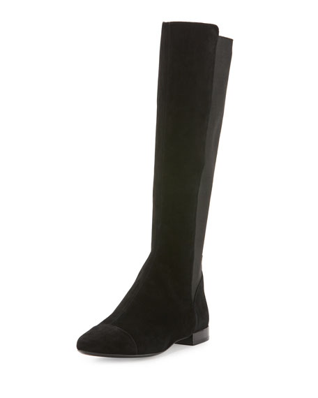 Tory Burch Orsay Suede Knee Boot, Black