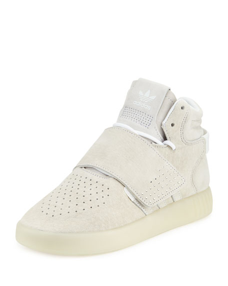 Adidas Tubular Invader Strap Shoes White Ice Black Jasper BB 5038