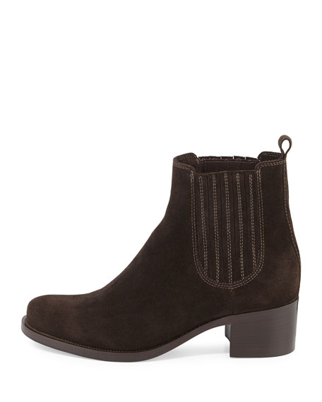 La Canadienne Prince Low-Heel Ankle Boot, Brown
