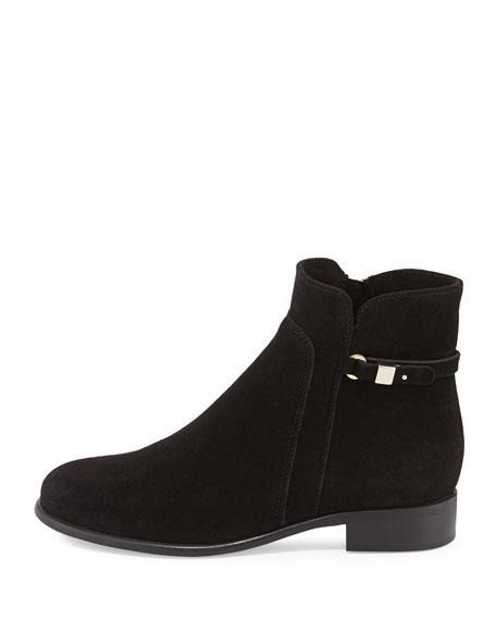 Sicilia Buckle Ankle Boot, Black