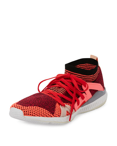 Edge Knit Trainer Sneaker, Pink Passion/Turbo/Red