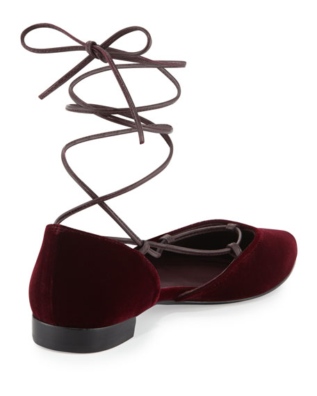 Gilligan Lace-Up d'Orsay Flat, Bordeaux