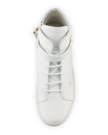 Breck Leather High-Top Sneaker, White