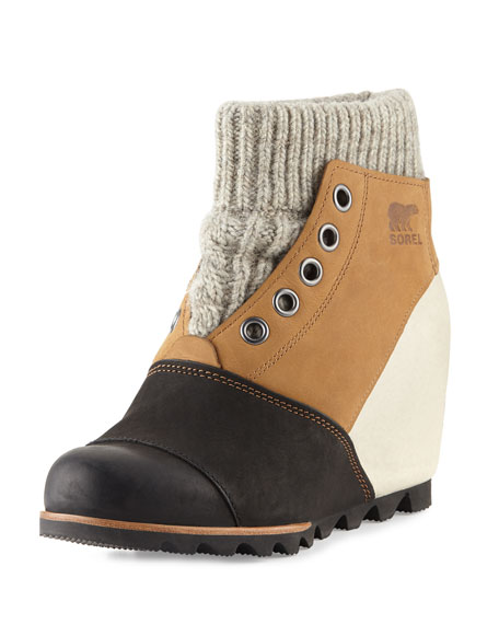 Joanie™ Sweater Wedge Bootie, Elk