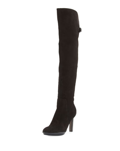 Raffaela Weatherproof Knee Boot, Black