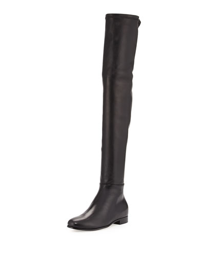 Myren Leather Over-the-Knee Boot, Black