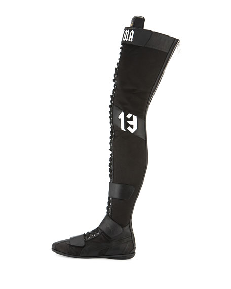 low priced 0ee4f fc968 Eskiva Over-the-Knee Boxing Boot Black