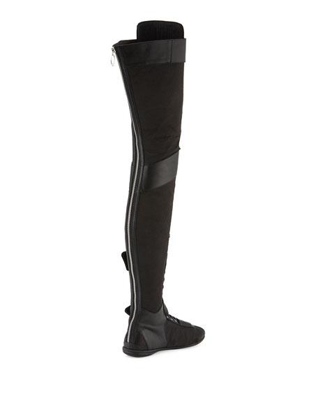 low priced bddda 97d5d Eskiva Over-the-Knee Boxing Boot Black