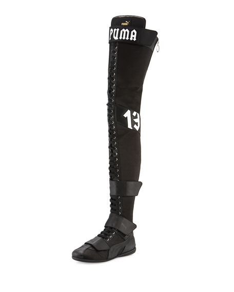 Eskiva Over-the-Knee Boxing Boot, Black