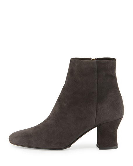 Bowin Suede Ankle Boot, Pewter