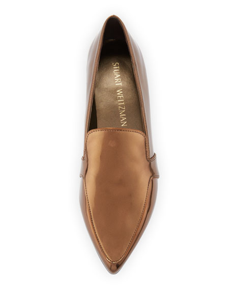Stuart Weitzman Pipelopez Pointed-Toe Loafer, Penny