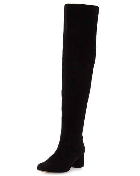 Sam Edelman Elina Suede Over-the-Knee Boot, Black