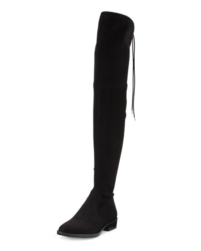 Paloma Suede Over-the-Knee Boot, Black