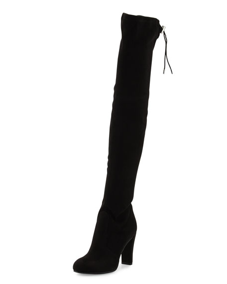 Sam Edelman Kent Suede Over-the-Knee Boot, Black
