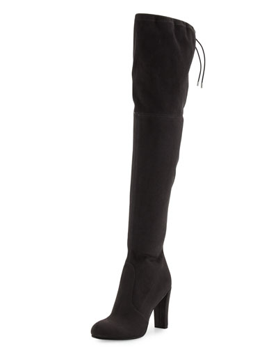 Kent Suede Over-the-Knee Boot, Dark Gray