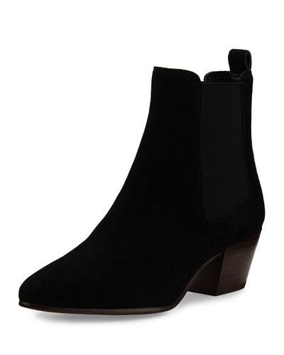 Reesa Suede Chelsea Boot, Black