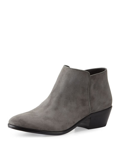 Petty Suede Ankle Boot, Slate Gray