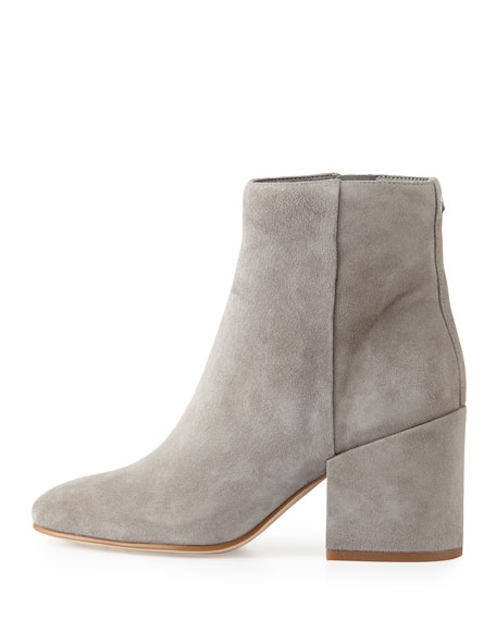 8b3d1bc17356 Sam Edelman Taye Suede Chunky-Heel Bootie
