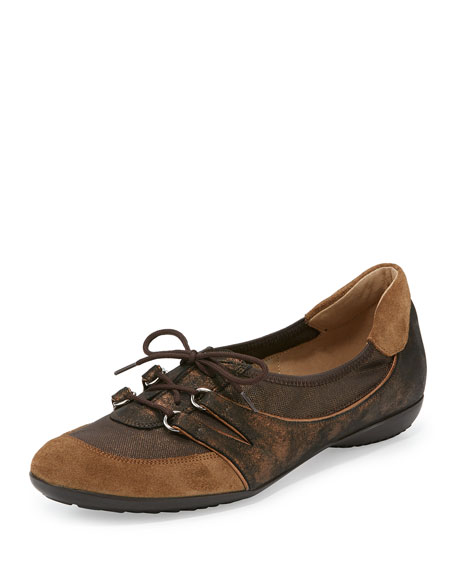 Sesto Meucci Bonnie Stretch Suede Sneaker, Bronze