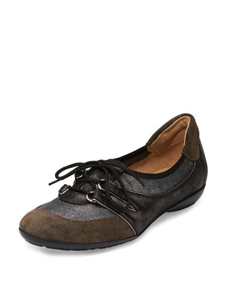 Sesto Meucci Bonnie Stretch Suede Sneaker, Pewter