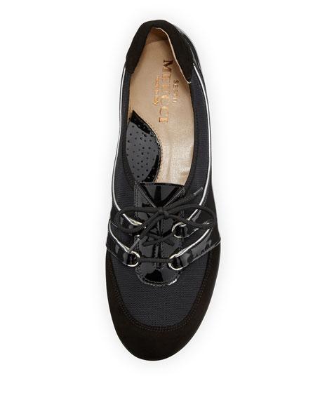 Bonnie Stretch Patent Sneaker, Black