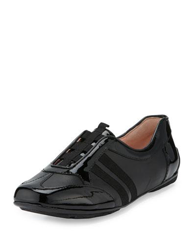 Caya Patent Slip-On Sneaker, Black