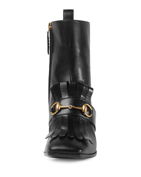 Polly Leather Ankle Logo Boot