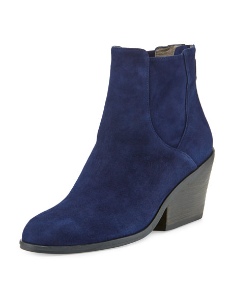 Peer Suede Ankle Boot, Dark Night