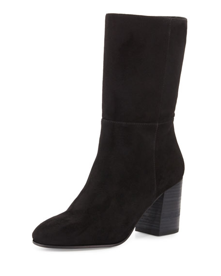 Cinch Suede Mid-Calf Boot, Black