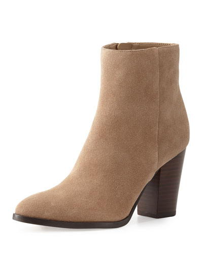 Blake Suede Ankle Boot, Oatmeal