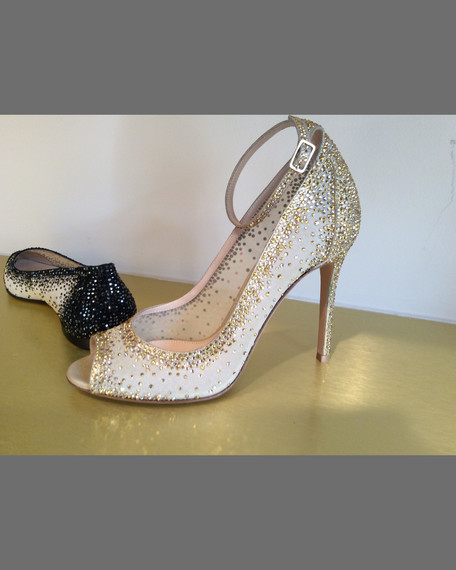 Gianvito Rossi 105MM OT ANKLE STRAP STRASS