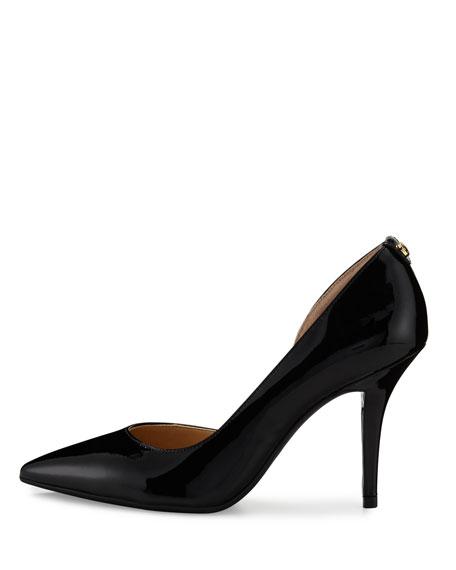 Nathalie Patent Half-d'Orsay Pump, Black